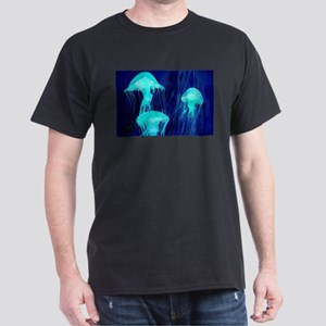Neon Glowing Jellyfish in the Ocean T-Shirt