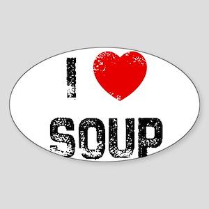 I * Soup Oval Sticker