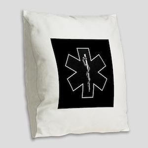 emt_bwis Burlap Throw Pillow