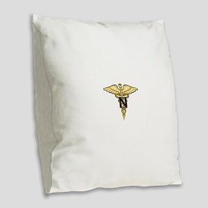 nurse_corps5 Burlap Throw Pillow
