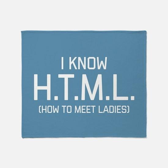 I Know HTML Throw Blanket