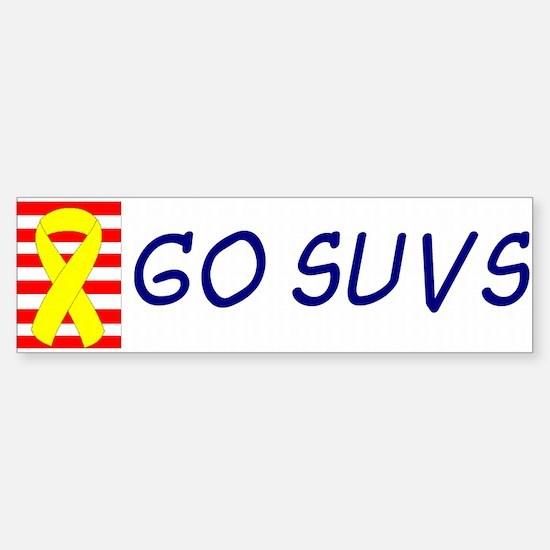 Support Our SUVs Yellow Ribbon Oil Bumper Bumper Sticker