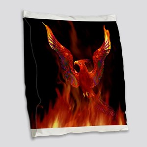 firebird1 Burlap Throw Pillow