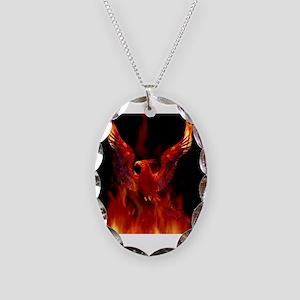 firebird1 Necklace Oval Charm
