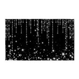 White with black stars 3x5 Rugs