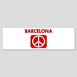 BARCELONA for peace Bumper Sticker