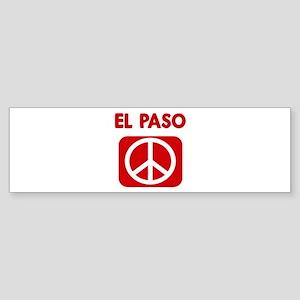 EL PASO for peace Bumper Sticker