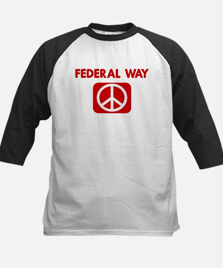 FEDERAL WAY for peace Kids Baseball Jersey