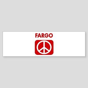 FARGO for peace Bumper Sticker
