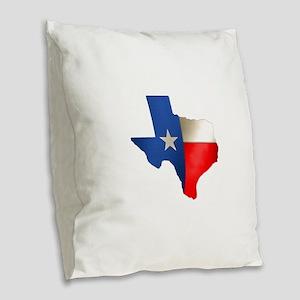 state_texas Burlap Throw Pillow