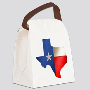 state_texas Canvas Lunch Bag