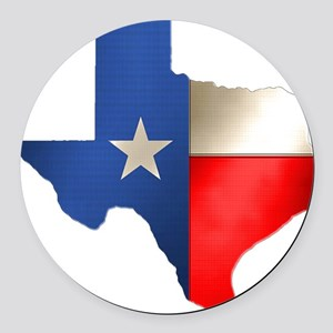 state_texas Round Car Magnet