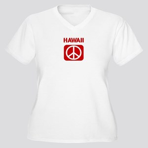 HAWAII for peace Women's Plus Size V-Neck T-Shirt