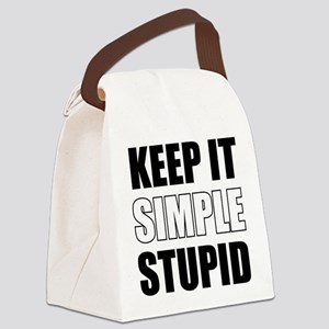 Keep It Simple Stupid Canvas Lunch Bag