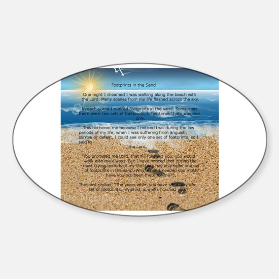 Cute Footprints sand Sticker (Oval)