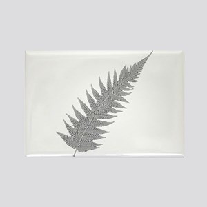 Silver Fern Aotearoa Rectangle Magnet