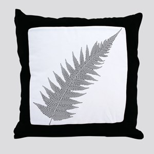 Silver Fern Aotearoa Throw Pillow