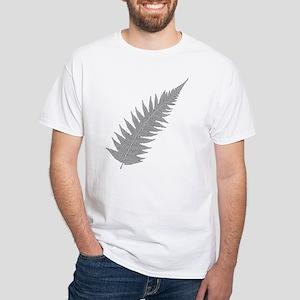 Silver Fern Aotearoa White T-Shirt