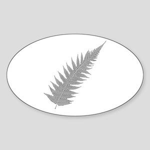 Silver Fern Aotearoa Oval Sticker