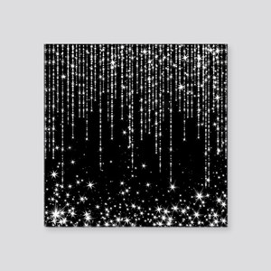 "STAR SHOWER Square Sticker 3"" x 3"""