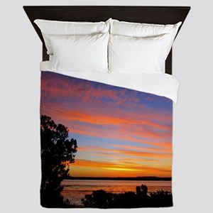 Sunset Red Queen Duvet