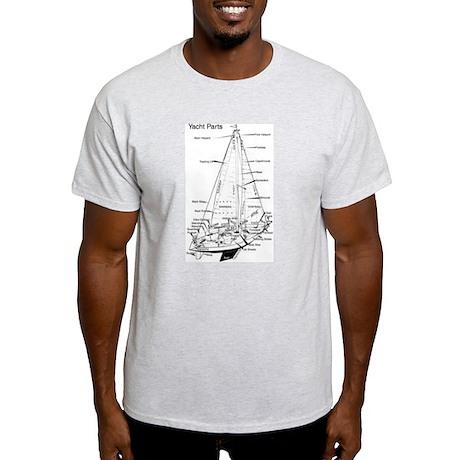 Ash Grey T-Shirt - Yacht Parts