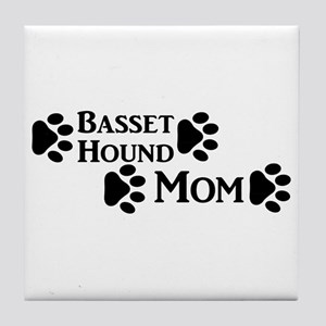 Basset Hound Mom Tile Coaster