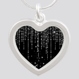STAR SHOWER Silver Heart Necklace
