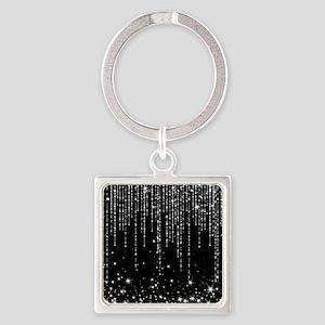 STAR SHOWER Square Keychain