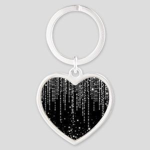 STAR SHOWER Heart Keychain