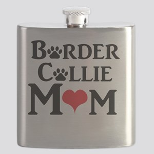 Border Collie Mom Flask