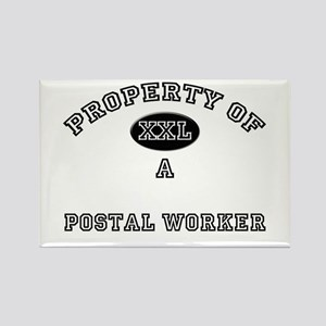 Property of a Postal Worker Rectangle Magnet