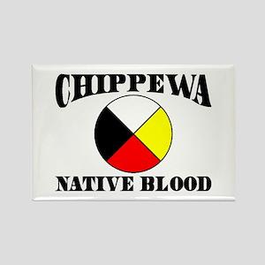 Chippewa Native Blood Rectangle Magnet