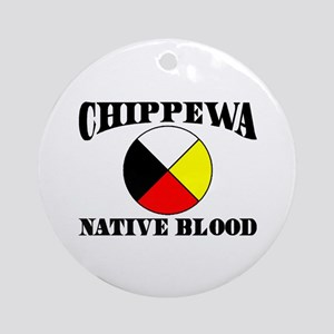 Chippewa Native Blood Ornament (Round)
