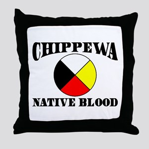 Chippewa Native Blood Throw Pillow