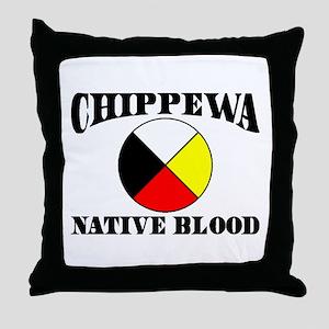 Chippewa Native Blood Throw Pillow