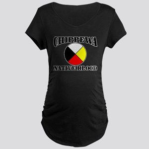 Chippewa Native Blood Maternity Dark T-Shirt
