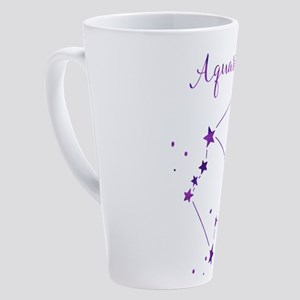 Aquarius Zodiac Constellation 17 oz Latte Mug