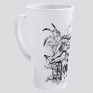 zodiac-distressed-aquarius_wh 17 oz Latte Mug