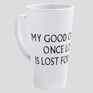 my-good-opinion_wh 17 oz Latte Mug