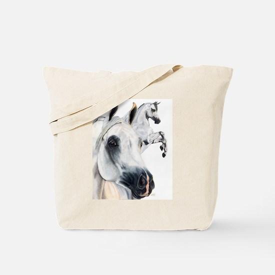 Grey Arabian Tote Bag