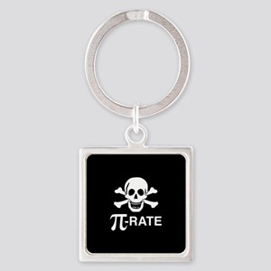 Pi-Rate Square Keychain