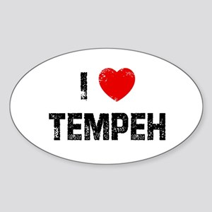 I * Tempeh Oval Sticker
