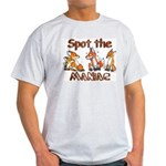 """Spot the Maniac"" grey tee-shirt"