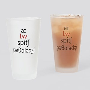 I Love Speech Pathology Phonetics 2 Drinking Glass