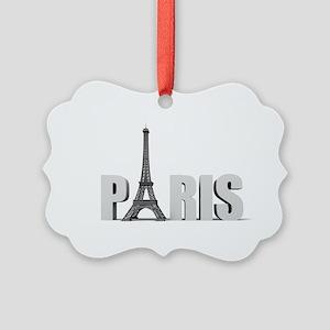 Paris Eiffel Tower Picture Ornament