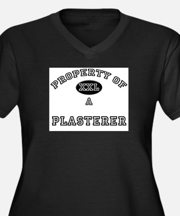 Property of a Plasterer Women's Plus Size V-Neck D