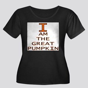 I am the Great Pumpkin Women's Plus Size Scoop Nec