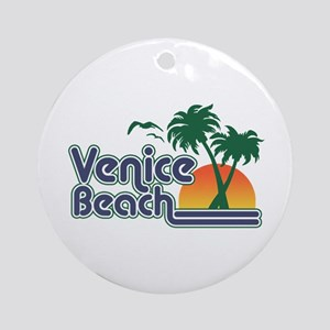 Venice Beach Round Ornament