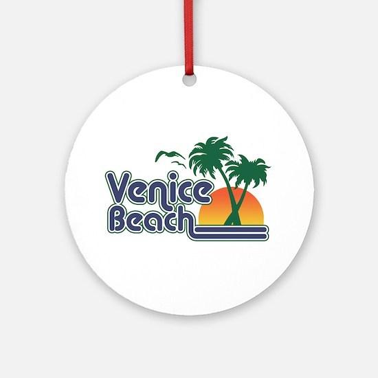 Venice Beach Round Ornament
